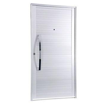 porta de alumínio lambri liso