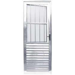 porta branca de alumínio