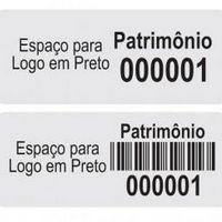 Etiquetas de Alumínio para Patrimônio