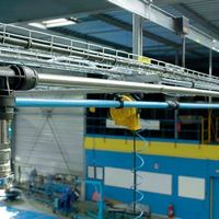 Rede de ar comprimido em alumínio