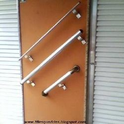 corrimão alumínio e vidro
