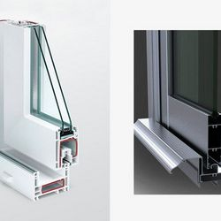 janela de alumínio com grade