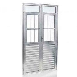 porta em alumínio branco