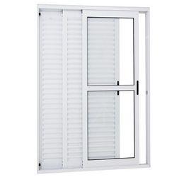porta de giro alumínio branca