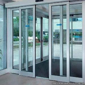 Instalação porta automática de vidro