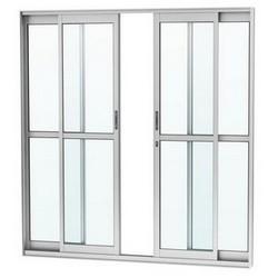 Sacada de vidro e alumínio branco